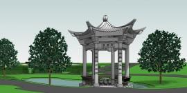 15001-W1 - Chinese pagode-columbarium